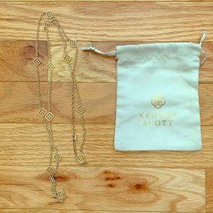 Kendra Scott Devalyn Long Necklace in Gold